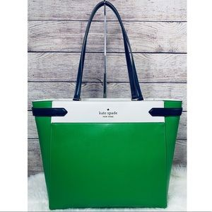 NWT Kate Spade Staci Colorblock Laptop Tote